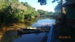 Pampas - La vue sur la rivière de notre campement avec alligators de chaque côté des rives!