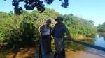 Pampas - Une photo de nous avant d'aller à la chasse à l'anaconda (on sait jamais)