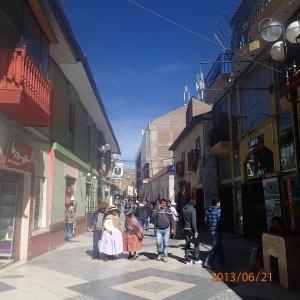 Puno - La rue piétonnière du centro