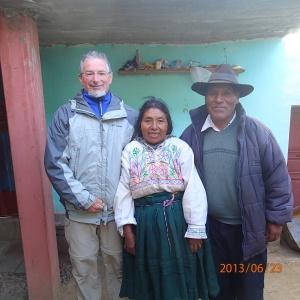 Amantani - photo de famille: Denis, Julia et Saturnino