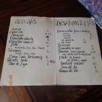 Sucre - ex de menu $ en Bolivianos ( empanadas... Miam miam)