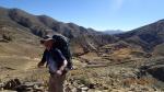 Sucre Trek J2- mon ptit mulet en haut du cratere (de notre chemin bien sûr...) 3300m