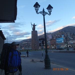 Cusco - Notre arrivée après être resté 3h de temps au terminal a tuer le temps à attendre l'ouverture des commerces pour aller déjeuner