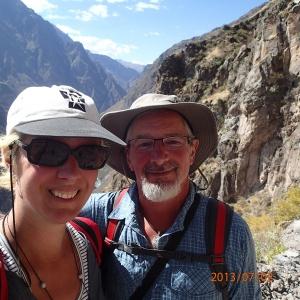 Arequipa - Tour au Cañon del Rio Colca: Notre charmant couple des Aventuriers du 450