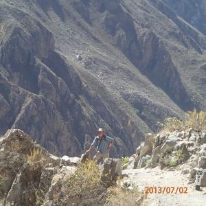 Arequipa - Tour au Cañon del Rio Colca: bon ok cette fois il y a pas mal de photos de nous...c'est pour être sûr qu'on s'en souvienne