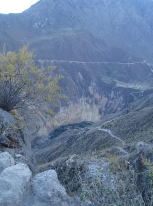 Arequipa - Tour au Cañon del Rio Colca: Le lendemain matin environ à moitié chemin (~6h-6h30am)