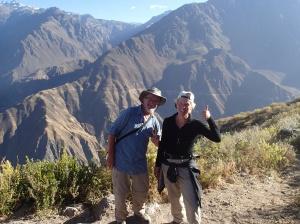Arequipa - Tour au Cañon del Rio Colca: Mission accomplie: 1000m de remontée en 2h45 pour Nath et Denis peut-être 2h s'il n'avait pas attendu sa douce...