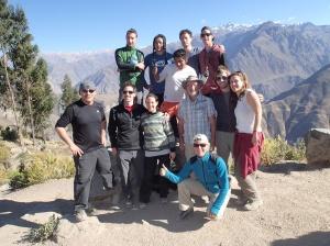 Arequipa - Tour au Cañon del Rio Colca: une photo de groupe s'impose