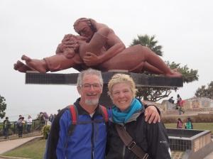 Lima - le parc au haut de la colline surplombant la mer...c'est là que Nath a jouée à la vedette!