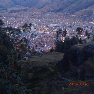 Cusco - Au retour du tour de ville...Vue de Cusco