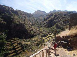 Cusco - Tour vers la Vallée Sacrée: Ruina de Pisac : un autre point de vue