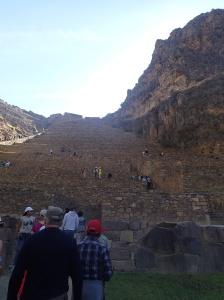Cusco - Tour vers la Vallée Sacrée: La forteresse à Ollantaytambo