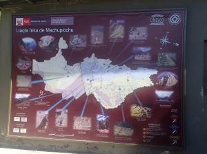 Cusco - le plan du site qui est immense.