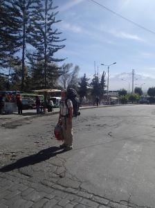 Arequipa - notre arrivé à la la ville blanche...cette vole est entourée de montagnes et/ou volcan enneigées (la ville est à 2335m d'altitude et près d'un million d'habitant).