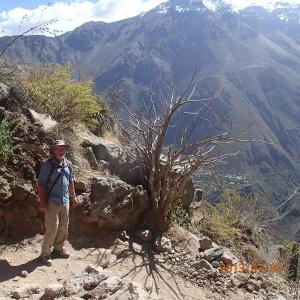 Arequipa - Tour au Cañon del Rio Colca: Denis ça ne se pose pas, lui il est toujours prêt!