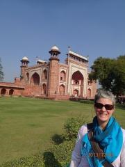 La gate de la porte principale pour le Taj Mahal